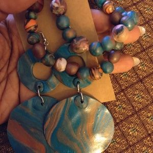 Handcrafted Earrings and Bracelet Set